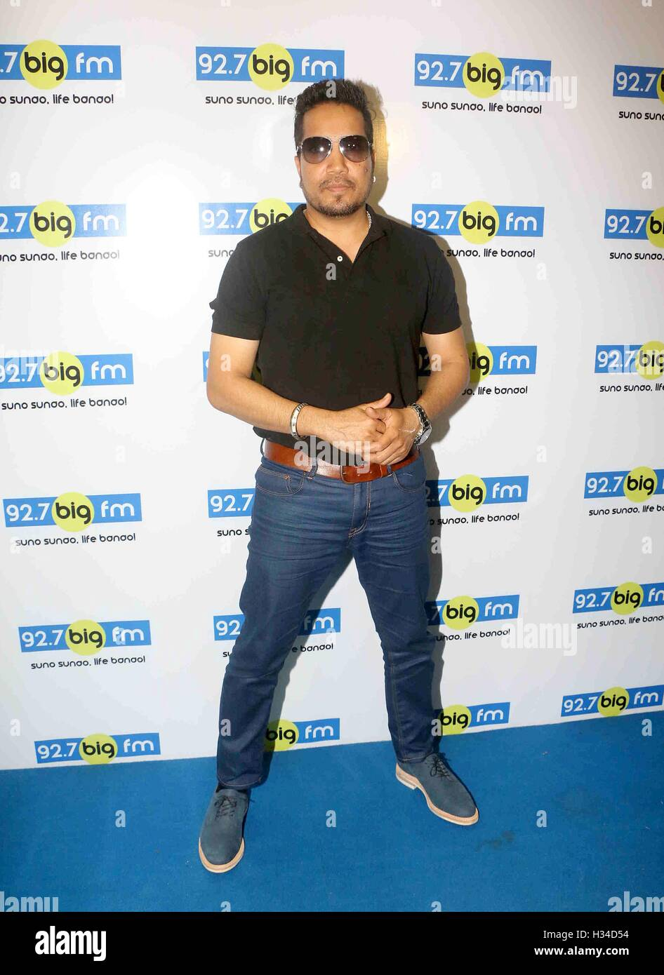 Bollywood singer Mika Singh during a meet and greet session at 92.7 BIG FM for his newly released single Chhori - Stock Image