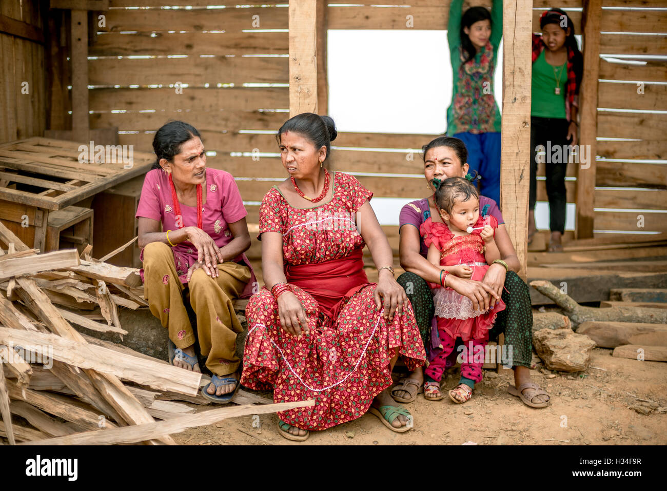 A group of local women attends a community meeting in Kavrepalanchowk District, Nepal. © Reynold Sumayku - Stock Image