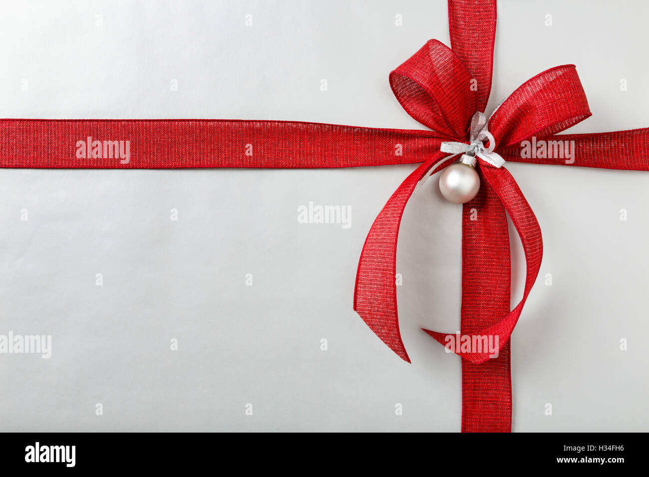 Christmas Present.Christmas Gift Christmas Present Background With Silver