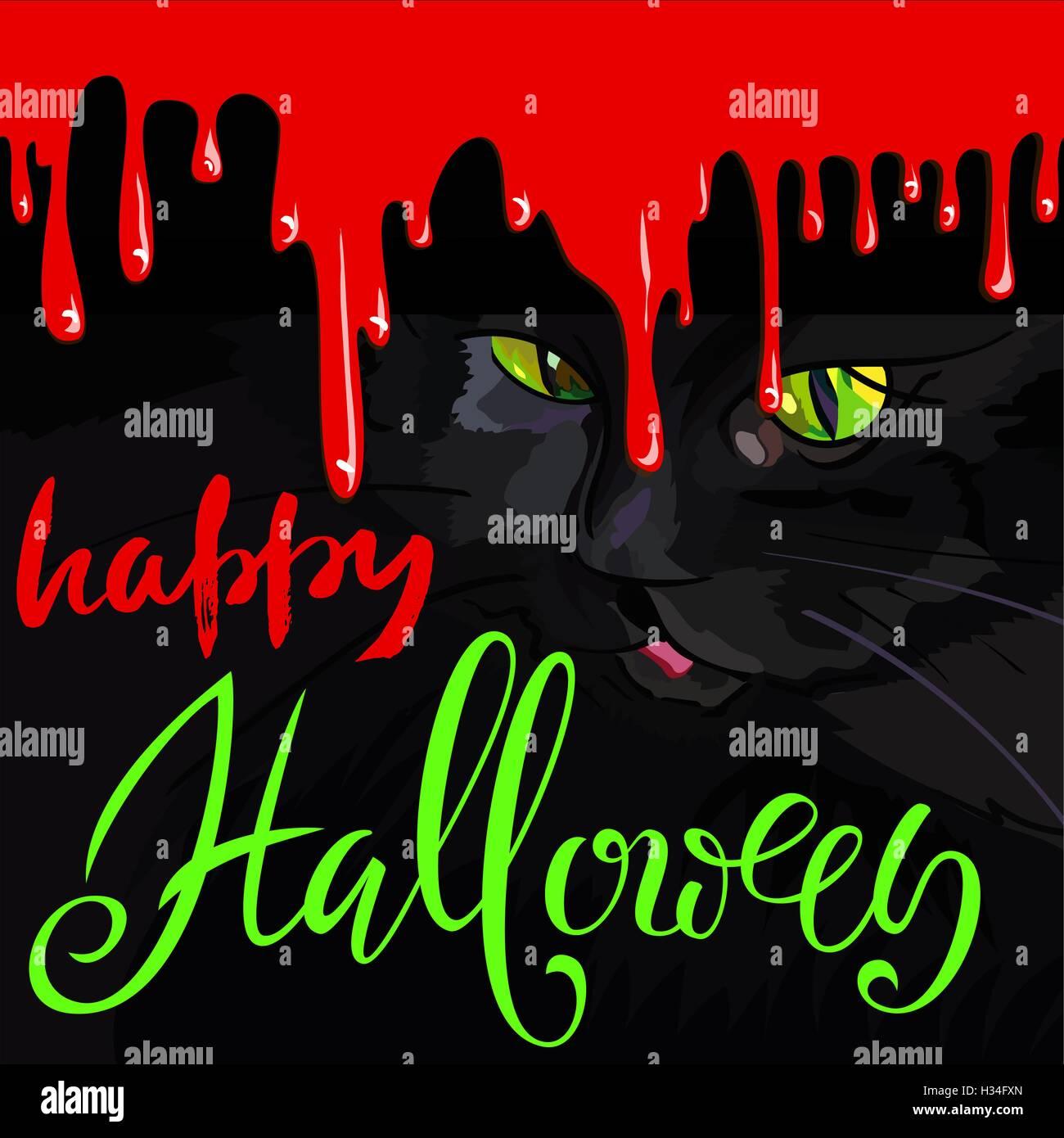 Halloween Invitation Poster Blood Stock Photos & Halloween ...