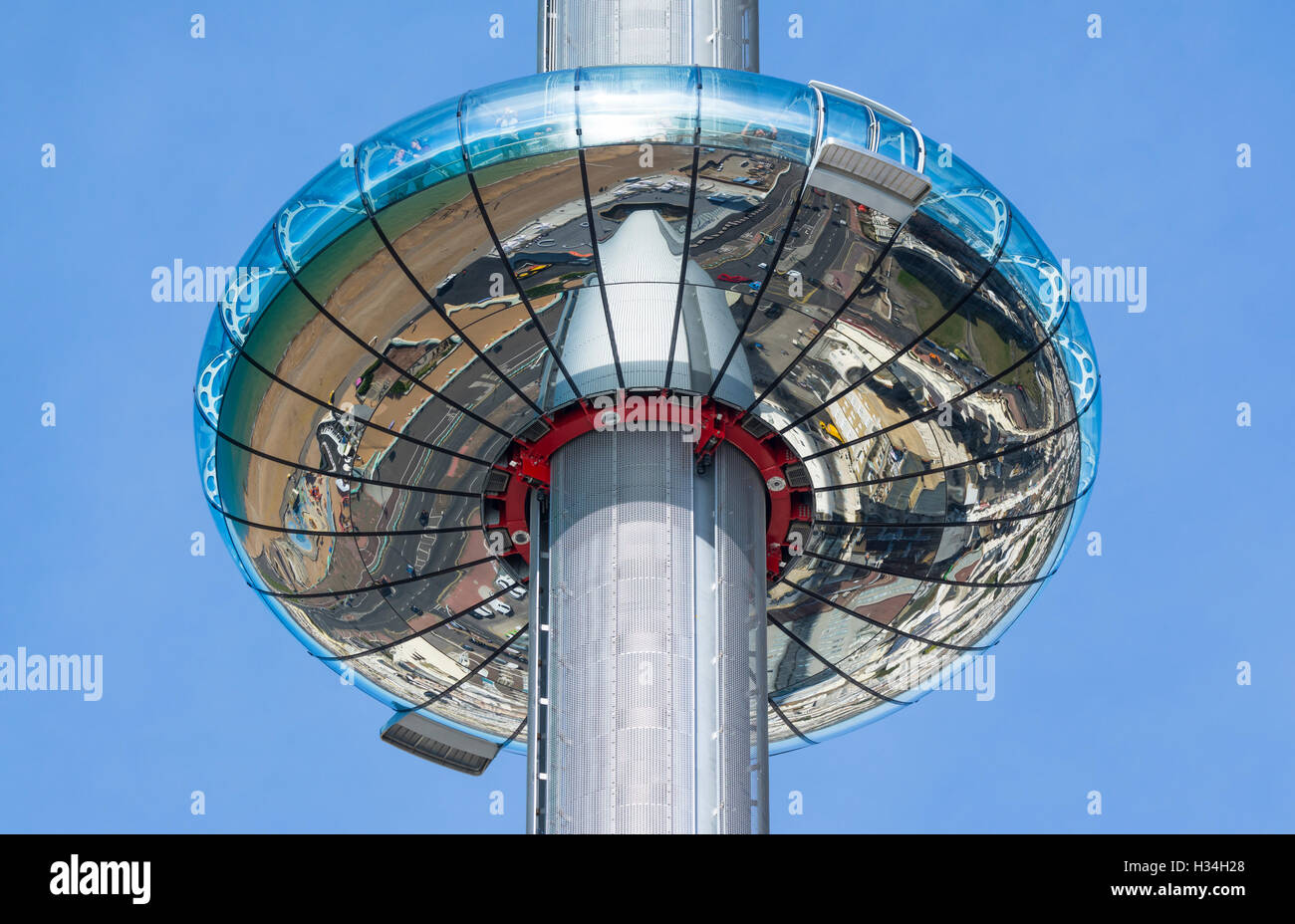 i360. British Airways i360 Observation Tower in Brighton, East Sussex, England, UK. i360 Brighton i360. i360 tower. - Stock Image