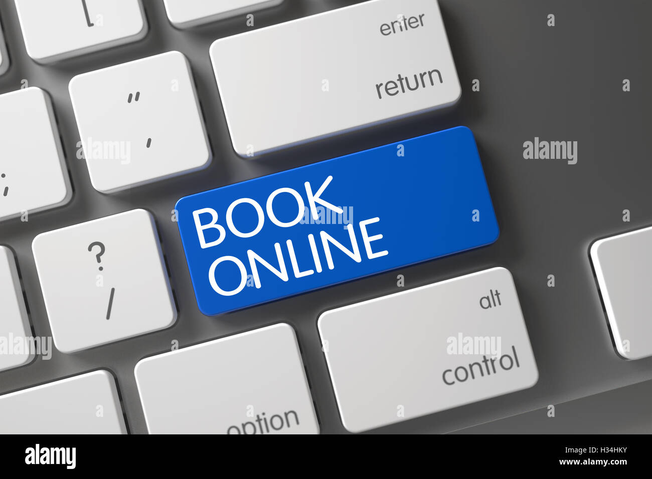 Blue Book Online Keypad on Keyboard  3D Stock Photo