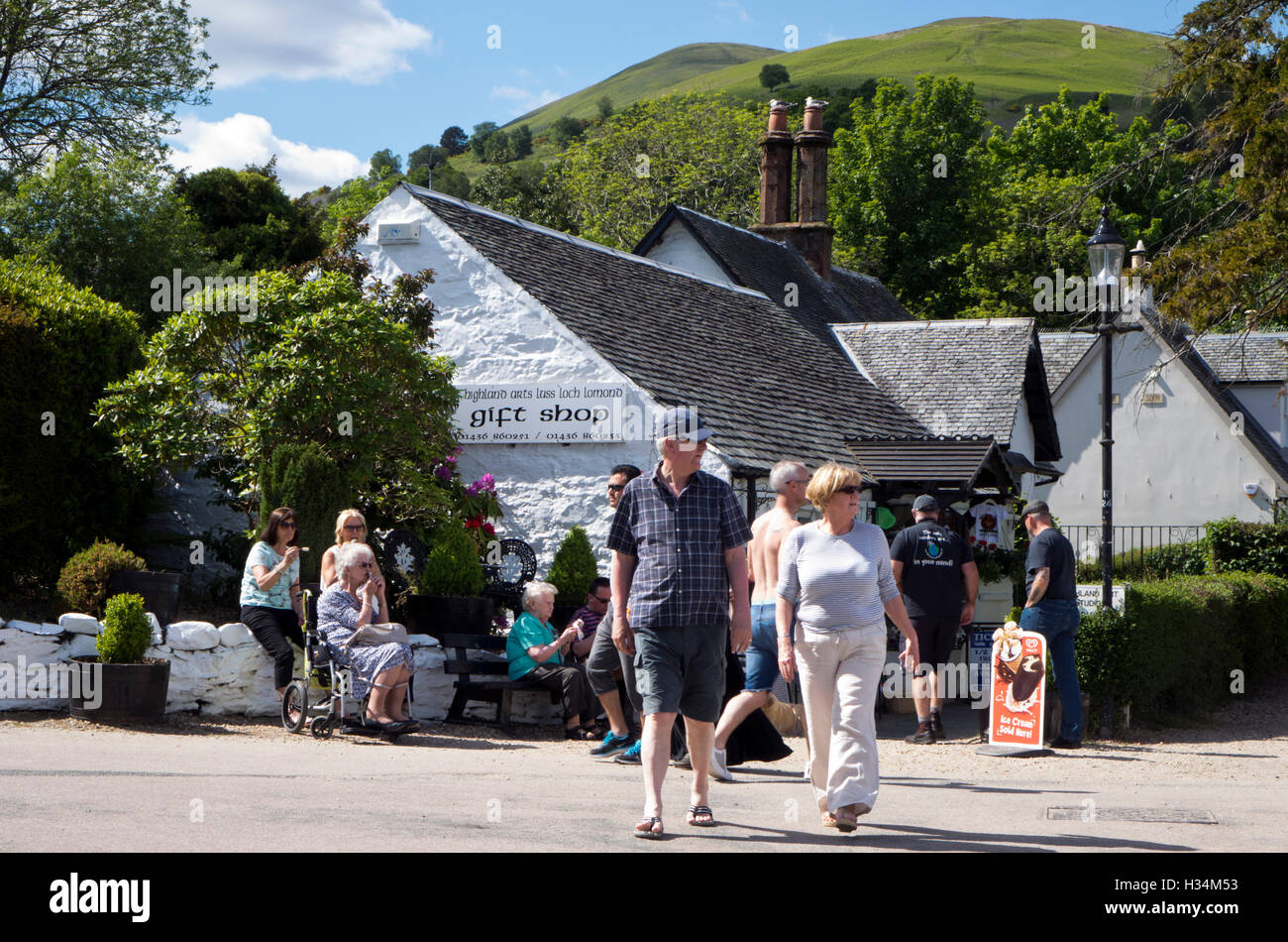 wee shop at Luss - Stock Image