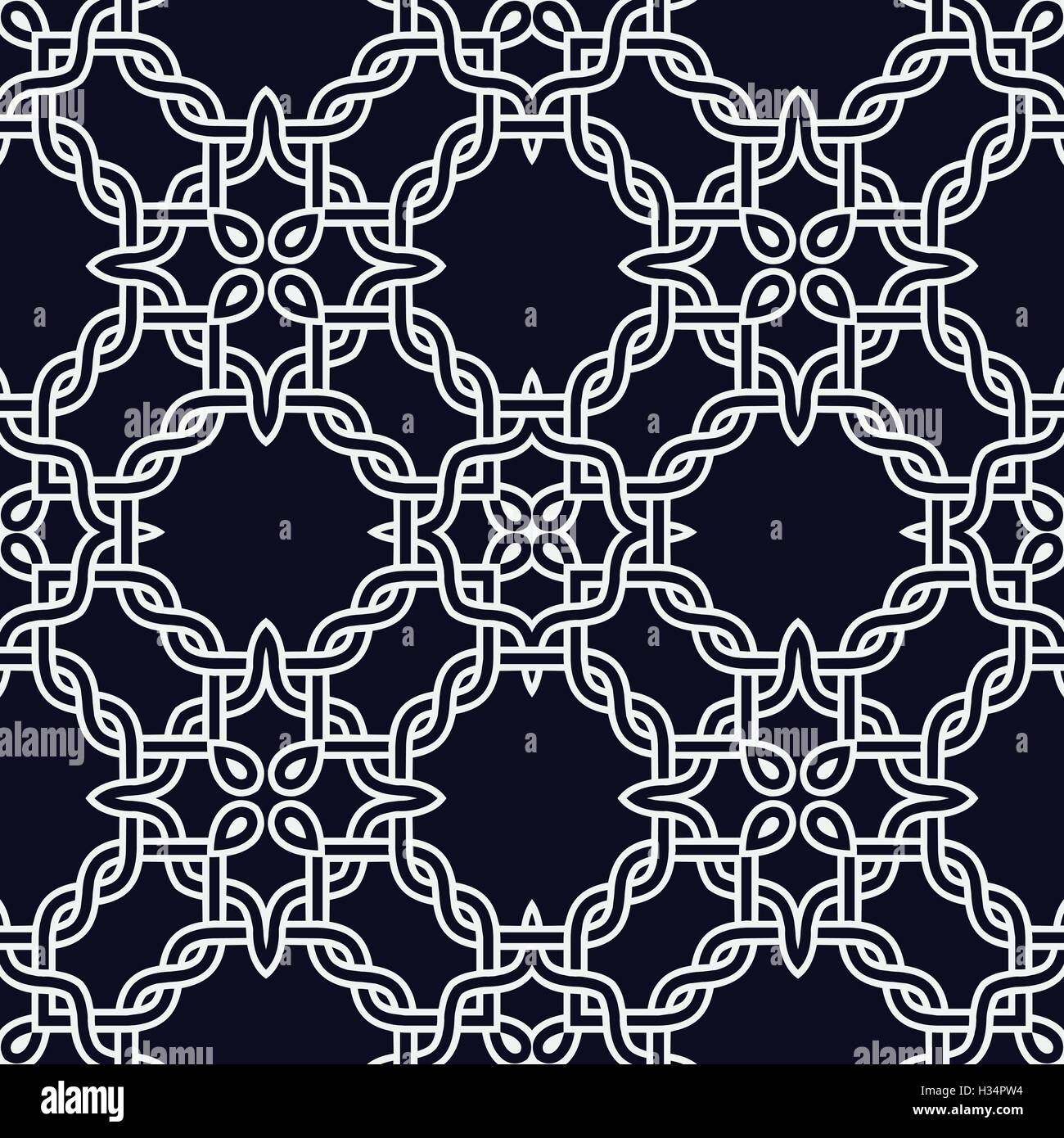 Abstract Celtic Knot Seamless Pattern Vector Background Template For