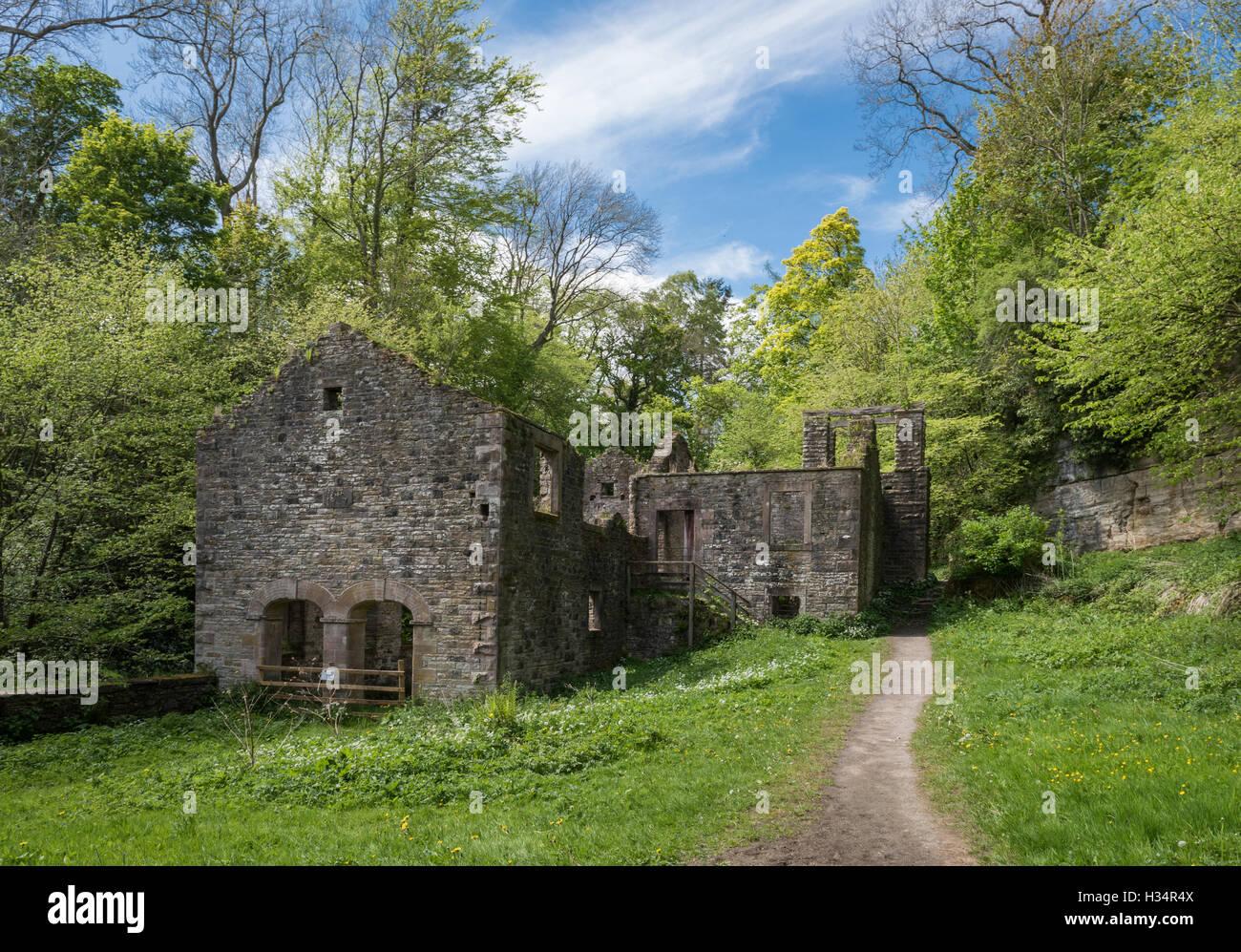 Old bobbin mill near the Howk, Caldbeck, Cumbria - Stock Image