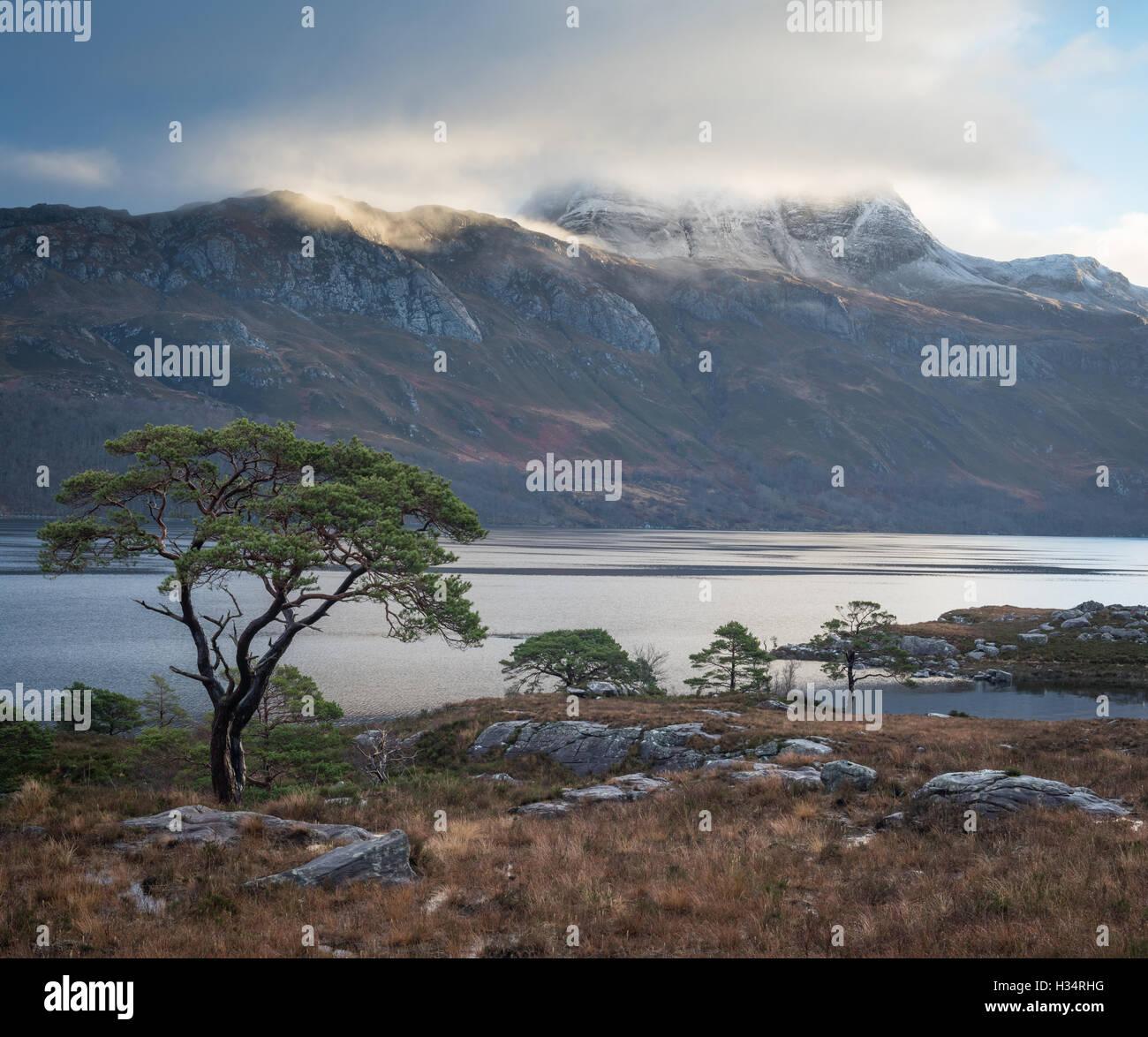 Loch Maree and Slioch, Scottish Highlands, Scotland - Stock Image