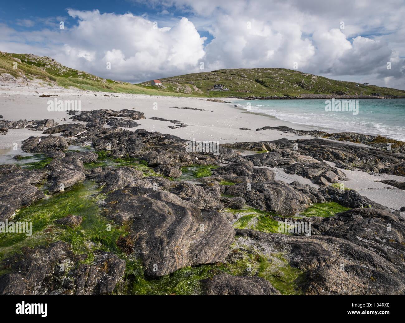 Beach on the island of Eriskay, Outer Hebrides, Western Isles, Scotland - Stock Image