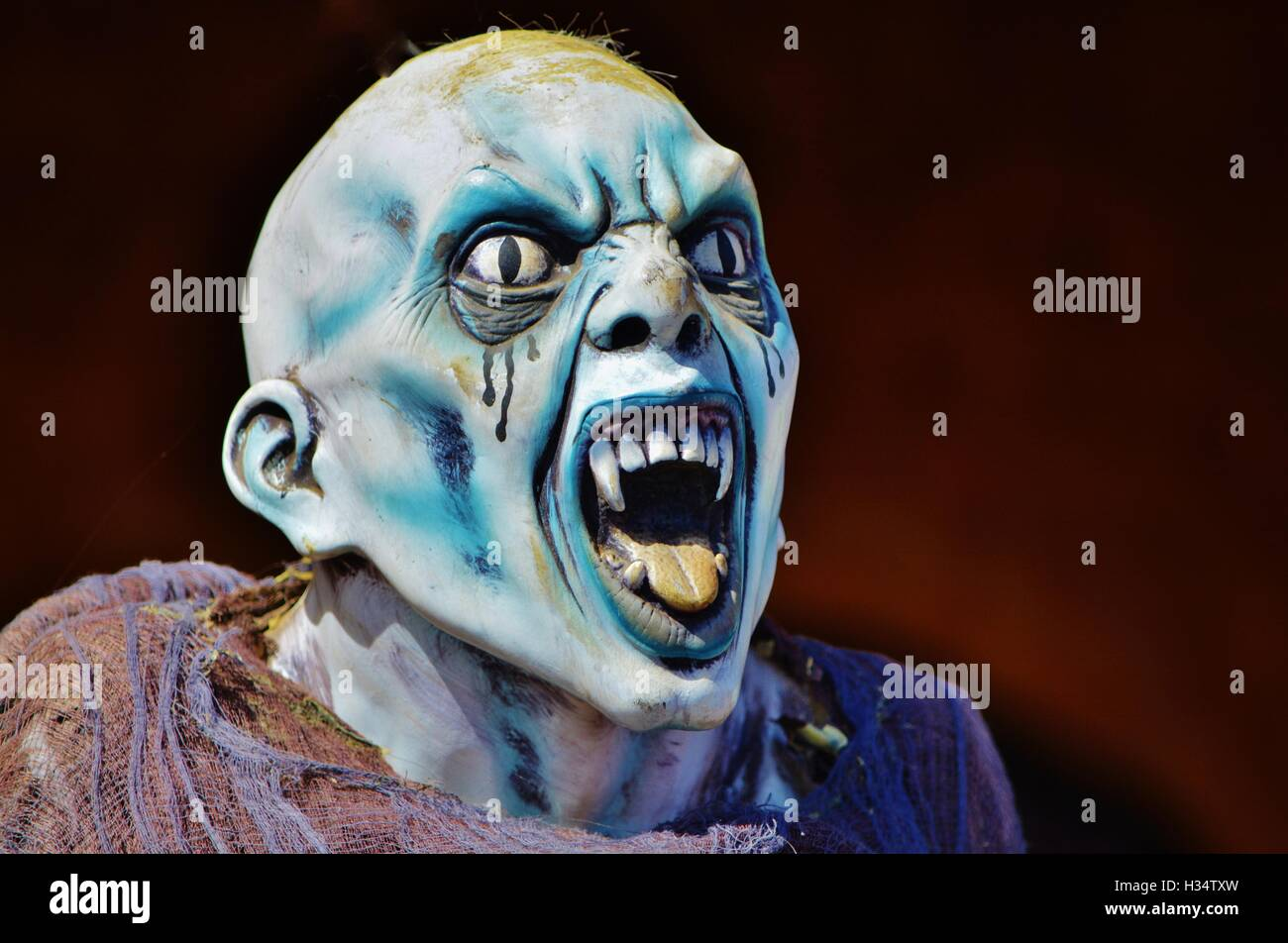 The scary frightening Blue Demon, daemon is here - Stock Image