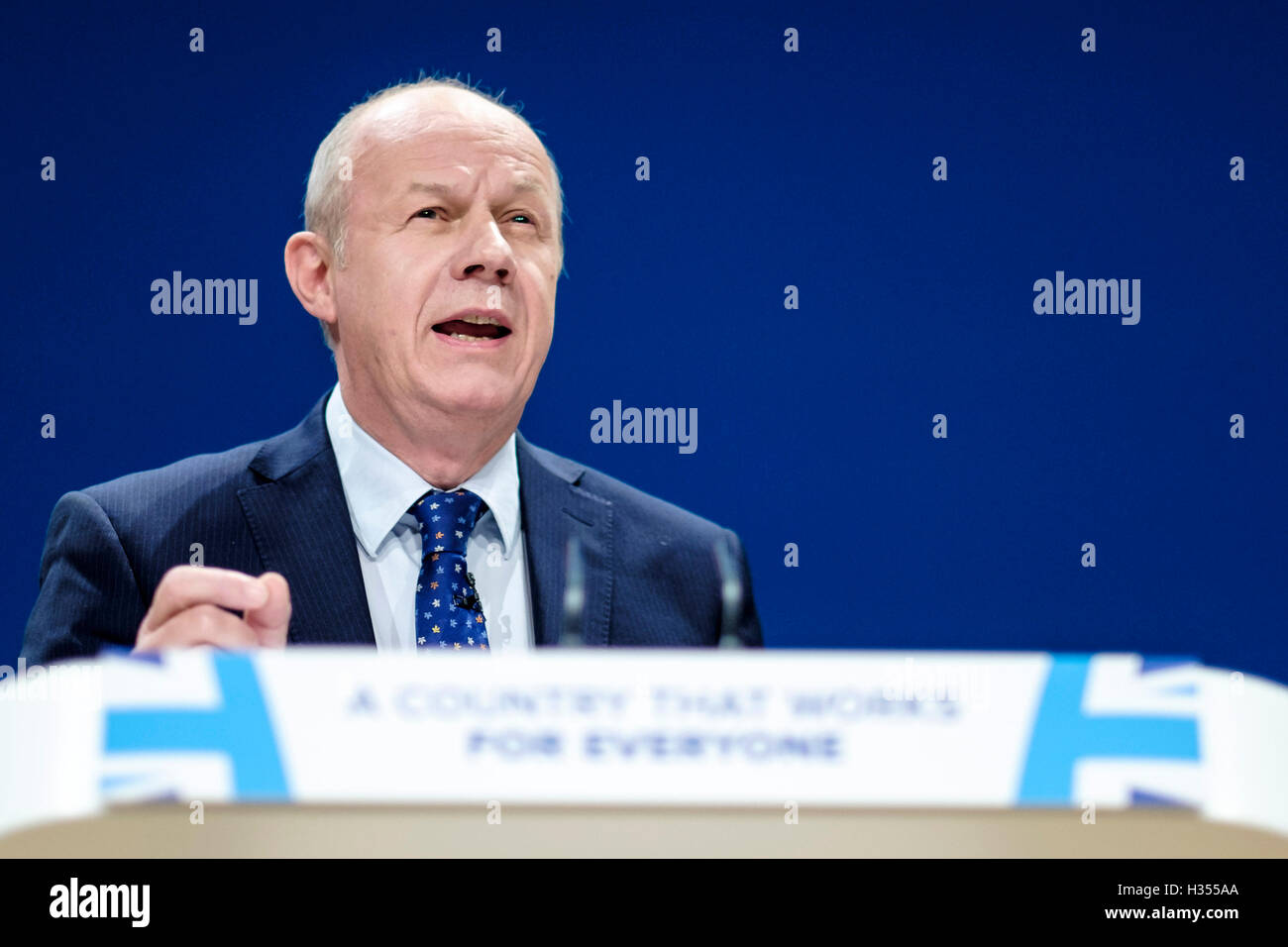 Conservative Party Conference day 3 on 04/10/2016 at Birmingham ICC, Birmingham. Persons pictured: Damian Green, - Stock Image