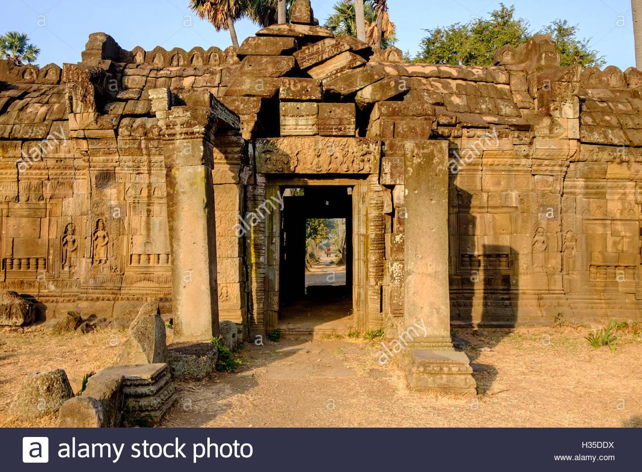 Vat Nokor, Angkorian sanctuary dated 11th century, Kompong Cham (Kampong Cham), Cambodia - Stock Image
