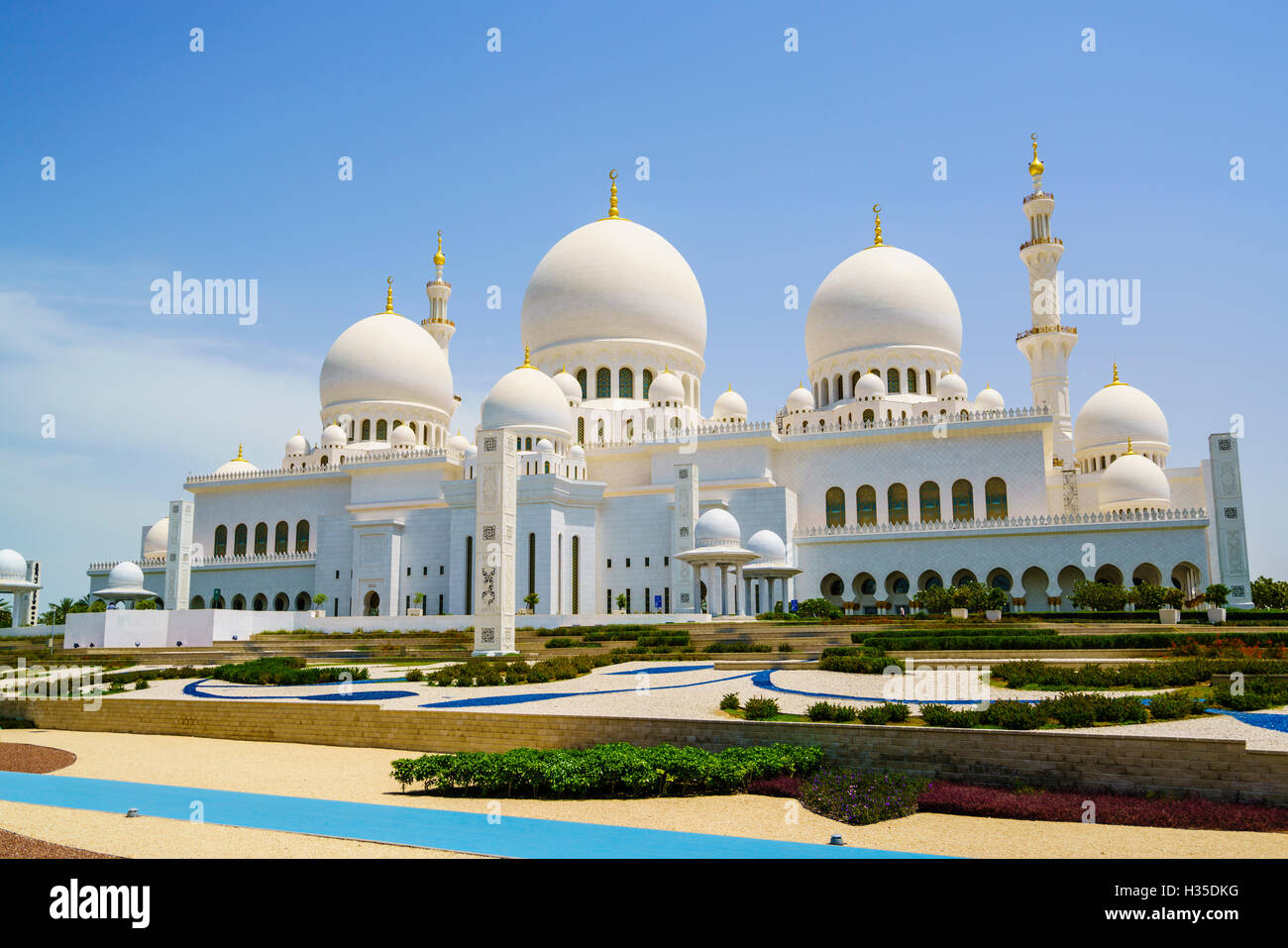 Sheikh Zayed Grand Mosque, Abu Dhabi, United Arab Emirates, Middle East Stock Photo