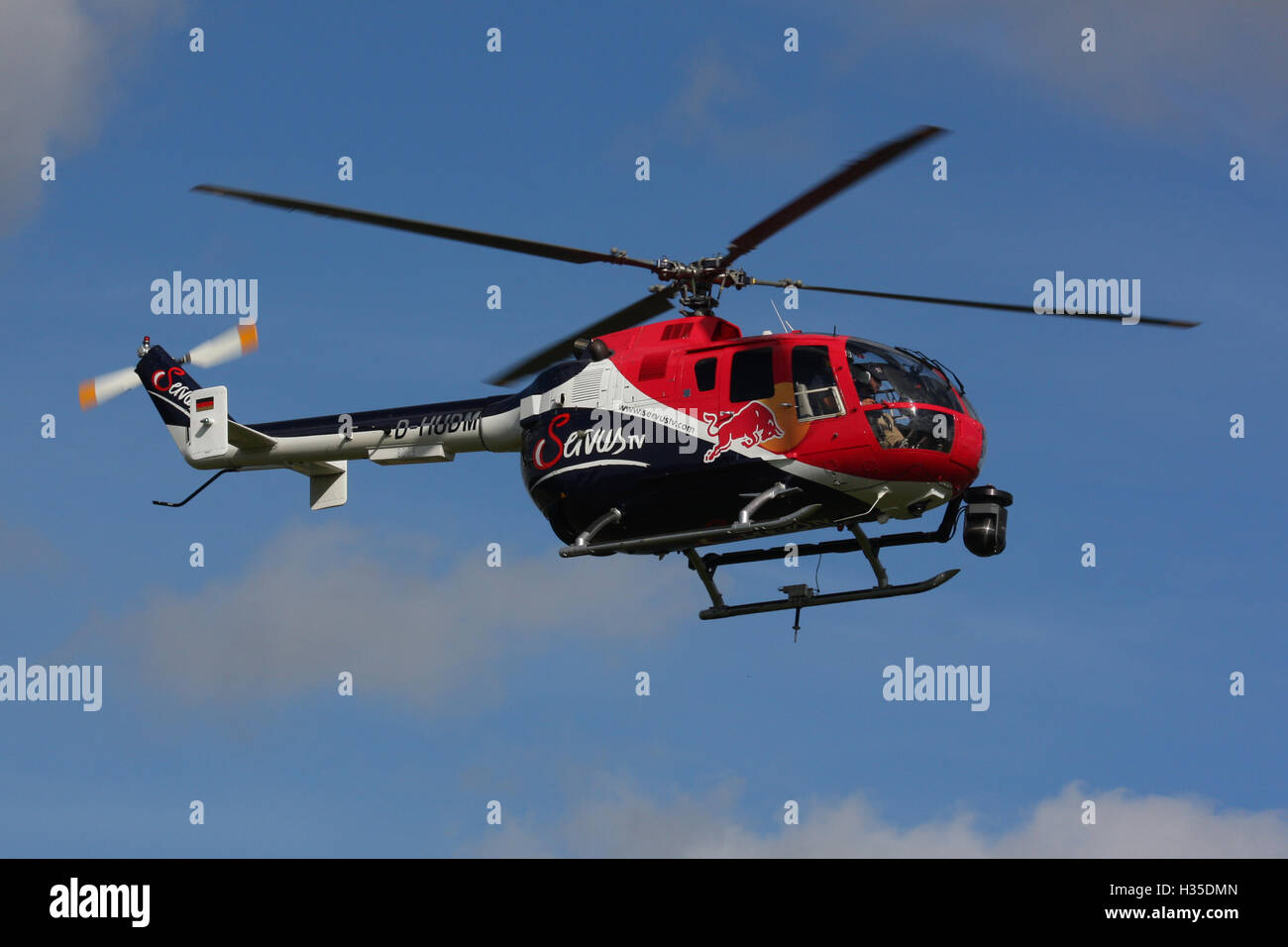 RED BULL BO 105 - Stock Image