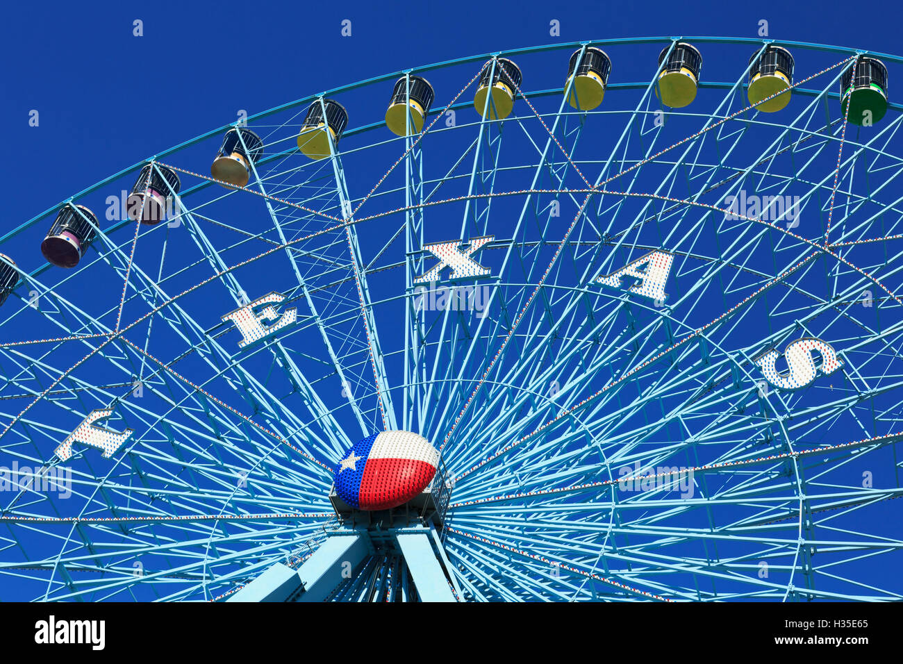 Ferris Wheel, Fair Park, Dallas, Texas, USA - Stock Image