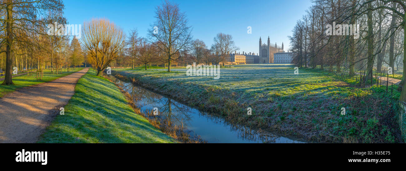 King's College Chapel, Cambridge University, The Backs, Cambridge, Cambridgeshire, England, UK - Stock Image