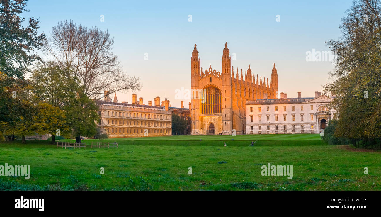 King's College Chapel, King's College, The Backs, Cambridge, Cambridgeshire, England, UK - Stock Image
