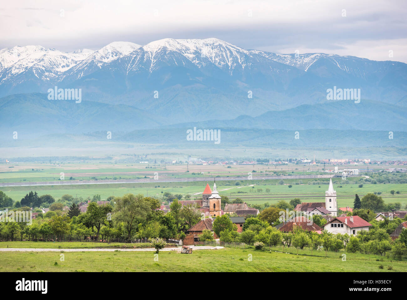 Countryside near Sibiu, Transylvania, Romania - Stock Image