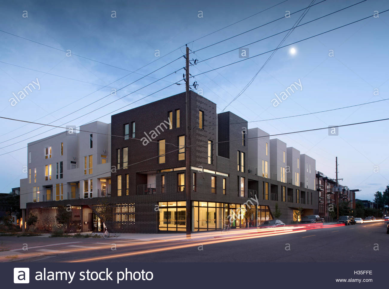 Exterior view, Meridian 105 Tejon Apartments, Denver, Colorado, USA. - Stock Image