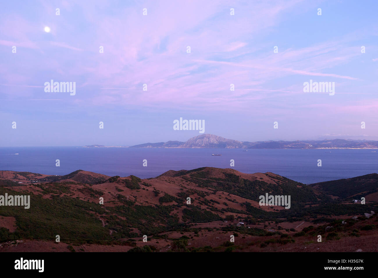 Andalusia, Spain. A general view of the north of Morocco and South of Spain. Pako Mera Stock Photo