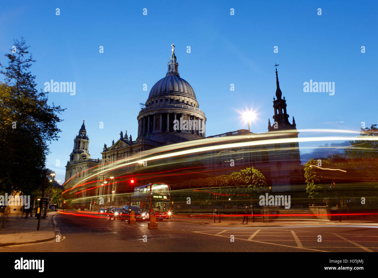 St Paul's cathedral  London Englnd - Stock Image