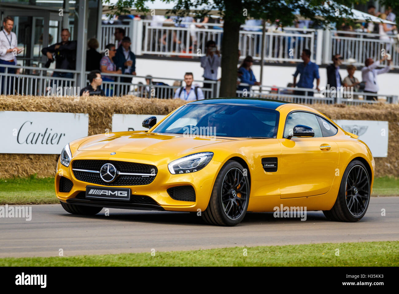 2016 Mercedes-Benz AMG GT-S supercar at the 2016 Goodwood Festival ...