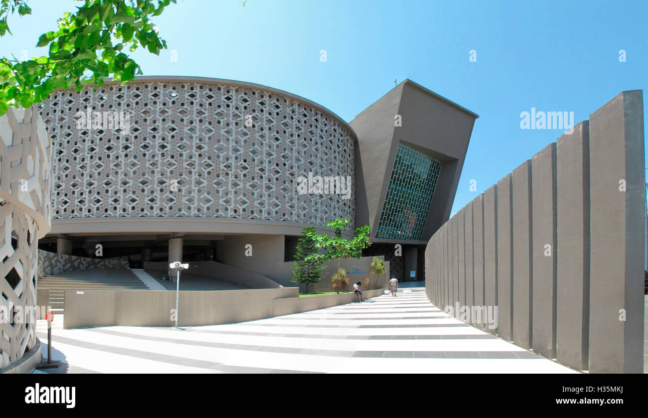 Exterior view of The Aceh Tsunami Museum, Banda Aceh, Indonesia. Stock Photo