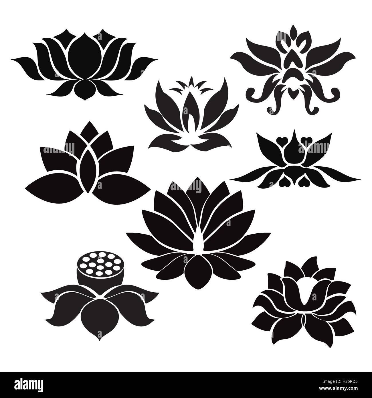Lotus Flower Tattoo Stock Photos Lotus Flower Tattoo Stock Images