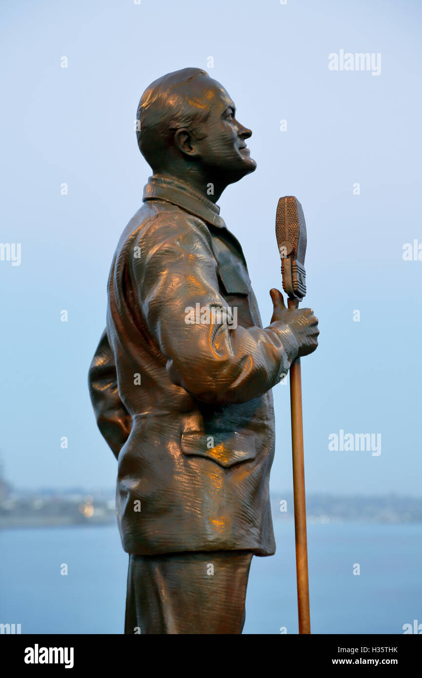 Detail, National Salute to Bob Hope and the Military, by Eugene Daub and Steven Whyte, San Diego, California USA - Stock Image