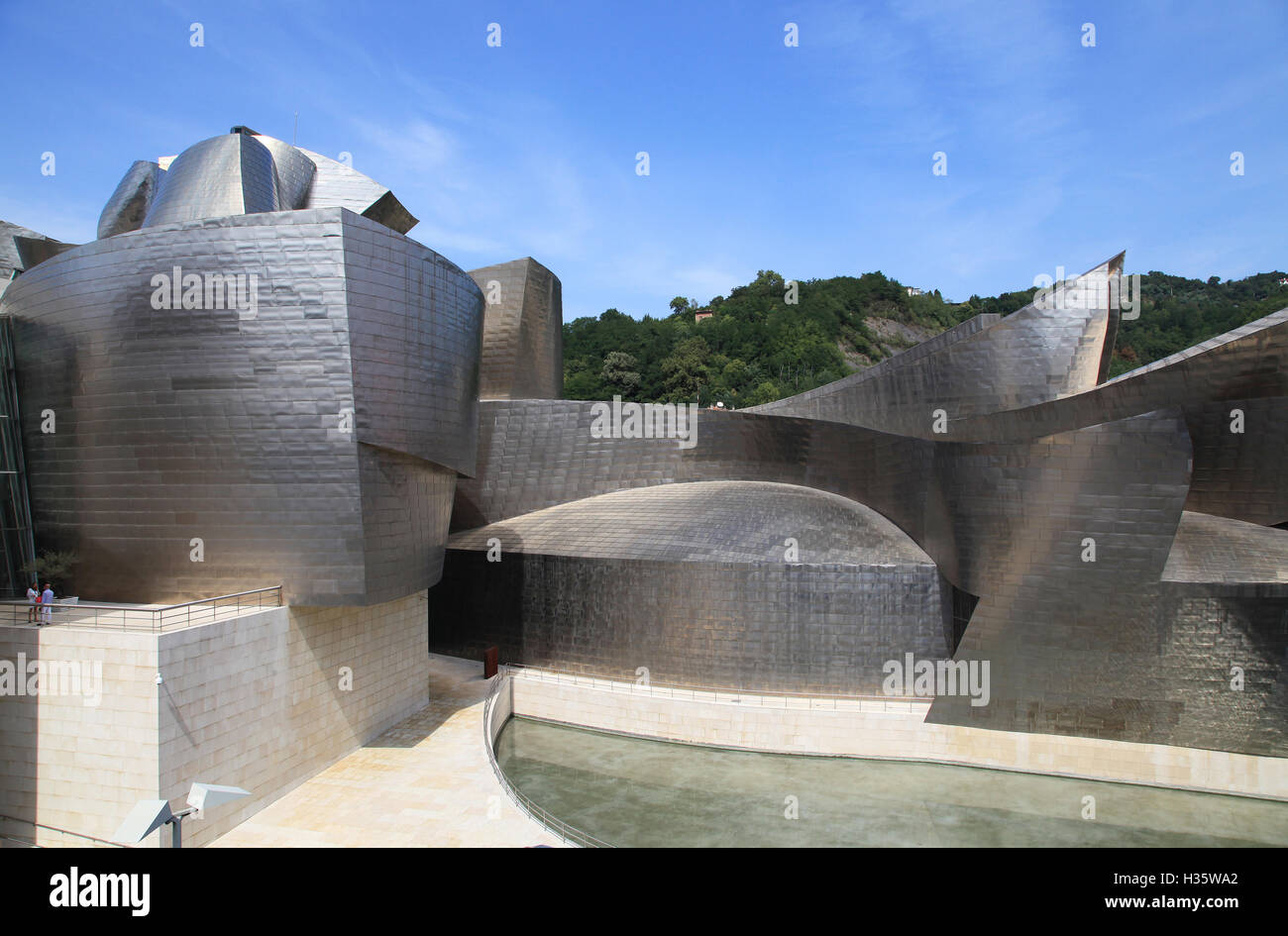 Guggenheim Architect Frank Gehry Bilbao Spain - Stock Image