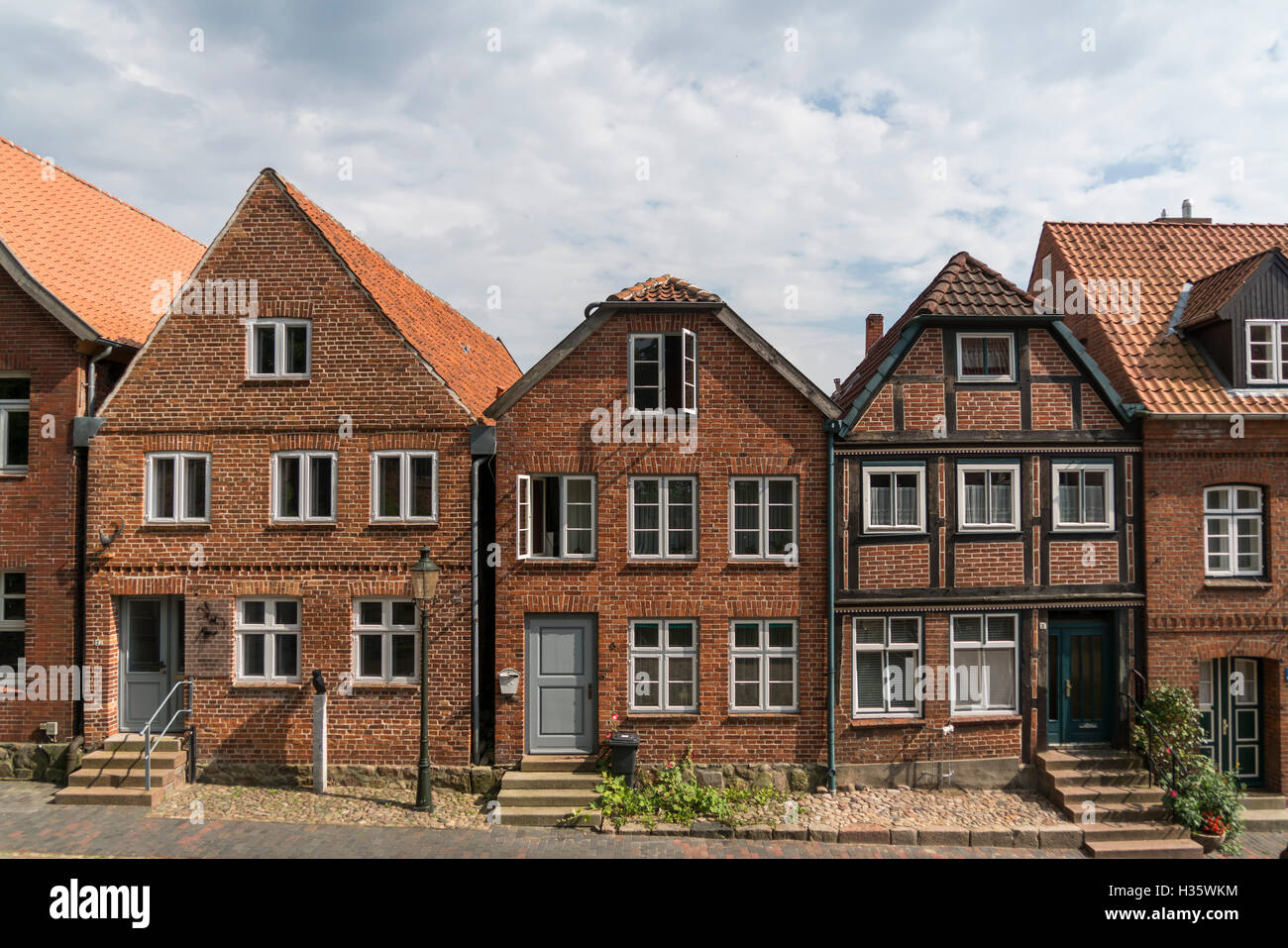 typical brick homes in moelln schleswig holstein germany europe stock photo 122446456 alamy. Black Bedroom Furniture Sets. Home Design Ideas