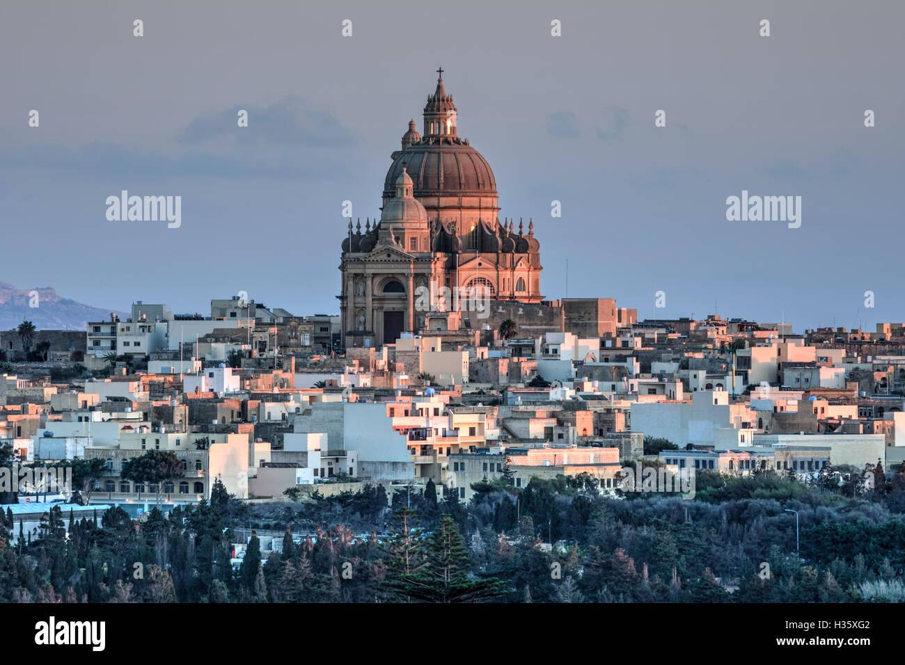 Rotunda, Xewkija, Gozo, Malta - Stock Image