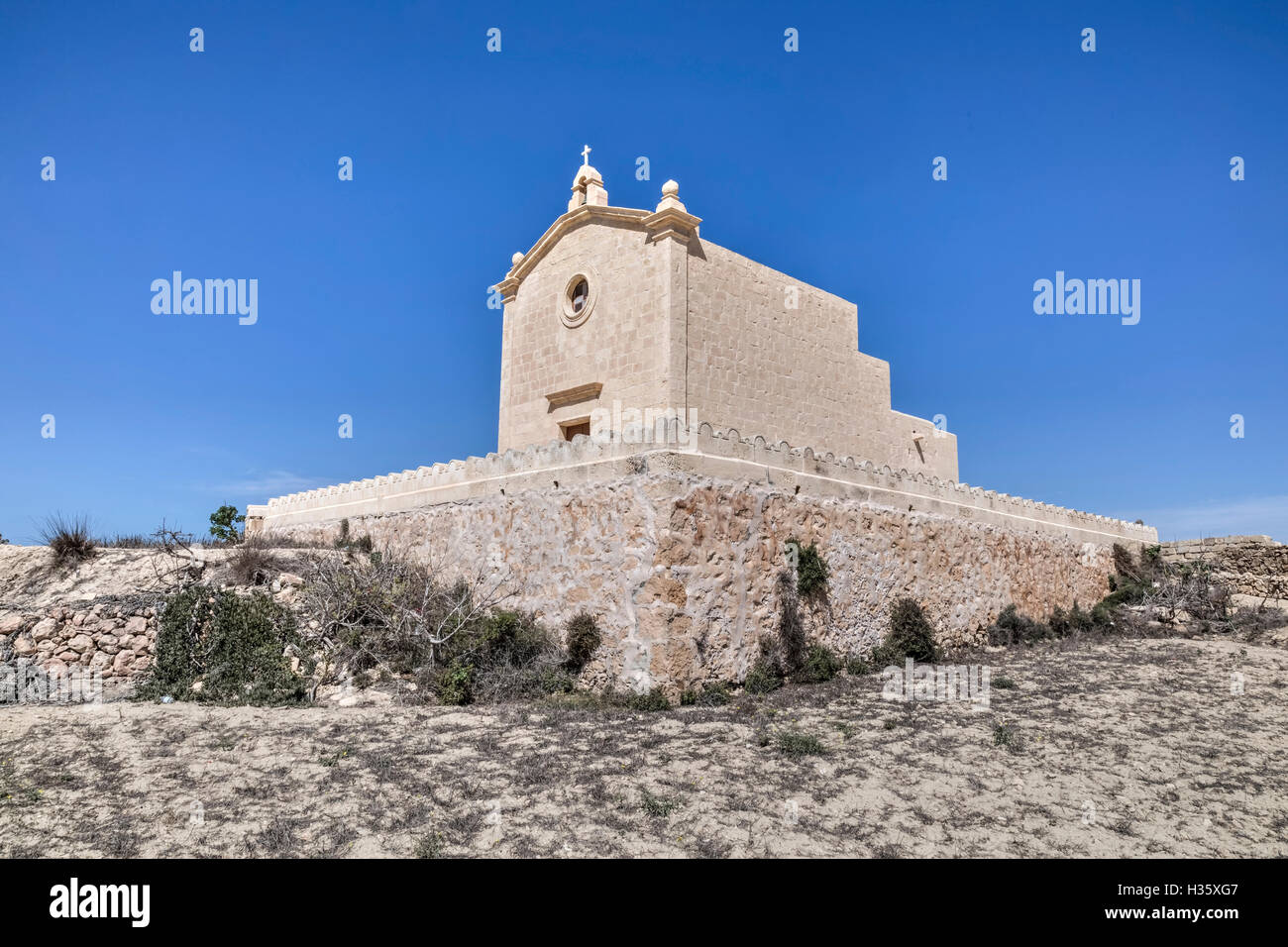 San Dimitri Chapel, Gharb, Gozo, Malta - Stock Image