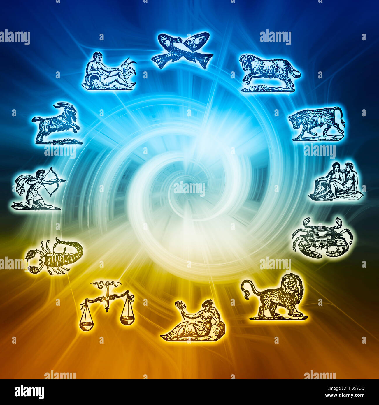 astrology and horoscope - Stock Image