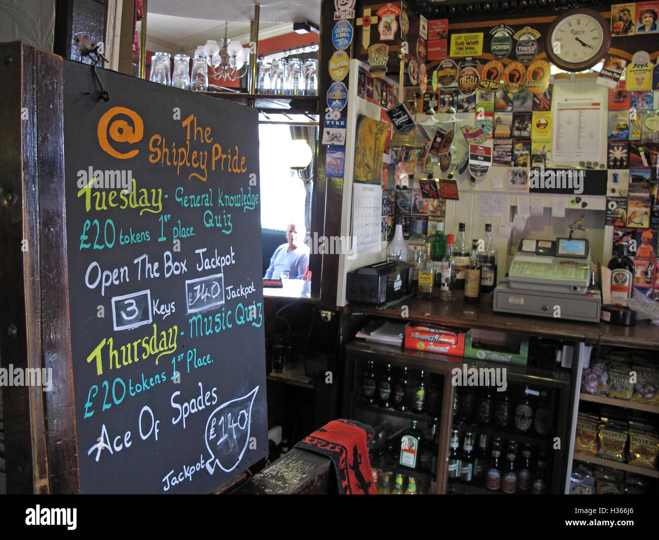 Inside the Shipley Pride Pub, West Yorkshire, England, UK - Stock Image