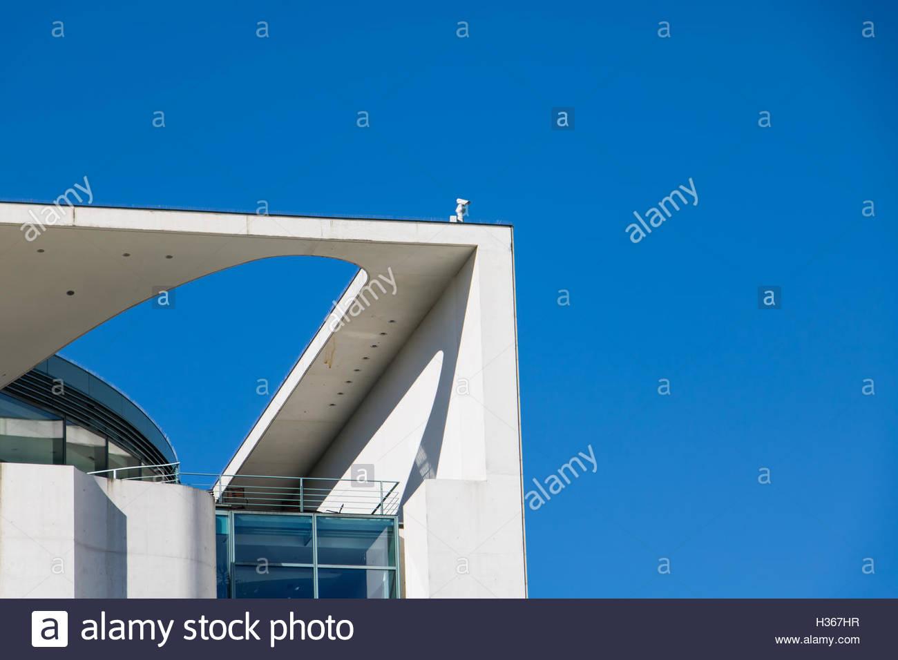 Chancellery Berlin Bundeskanzleramt modern abstract building modern architecture germany german landmark Berlin - Stock Image