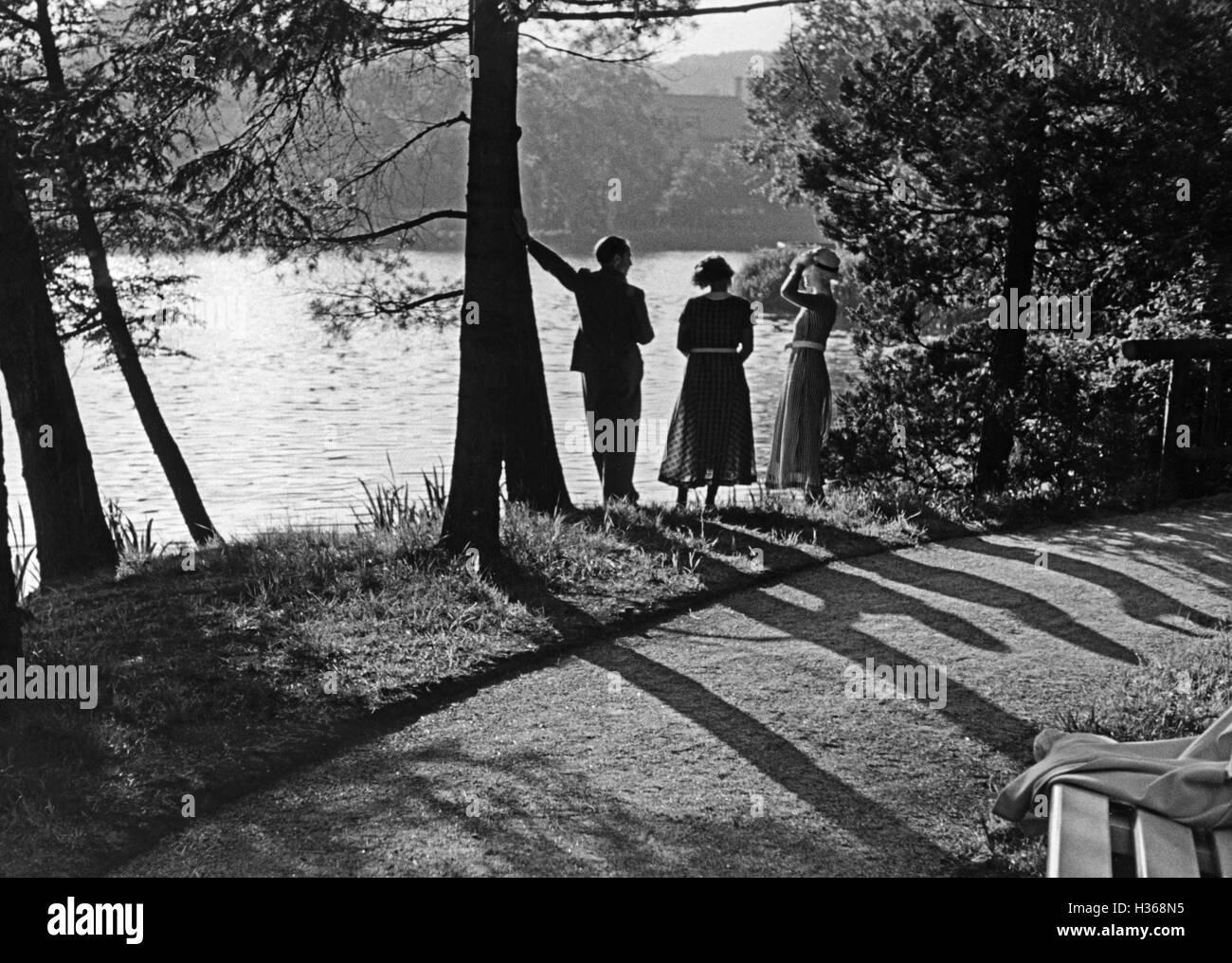 Lake view, 1936 - Stock Image