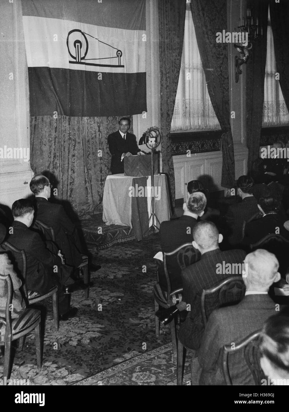 Commemoration ceremony of the Government of Free India in Berlin, 1943 - Stock Image