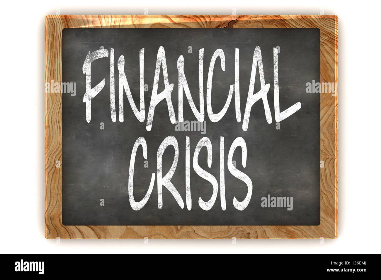 Blackboard Financial Crisis - Stock Image