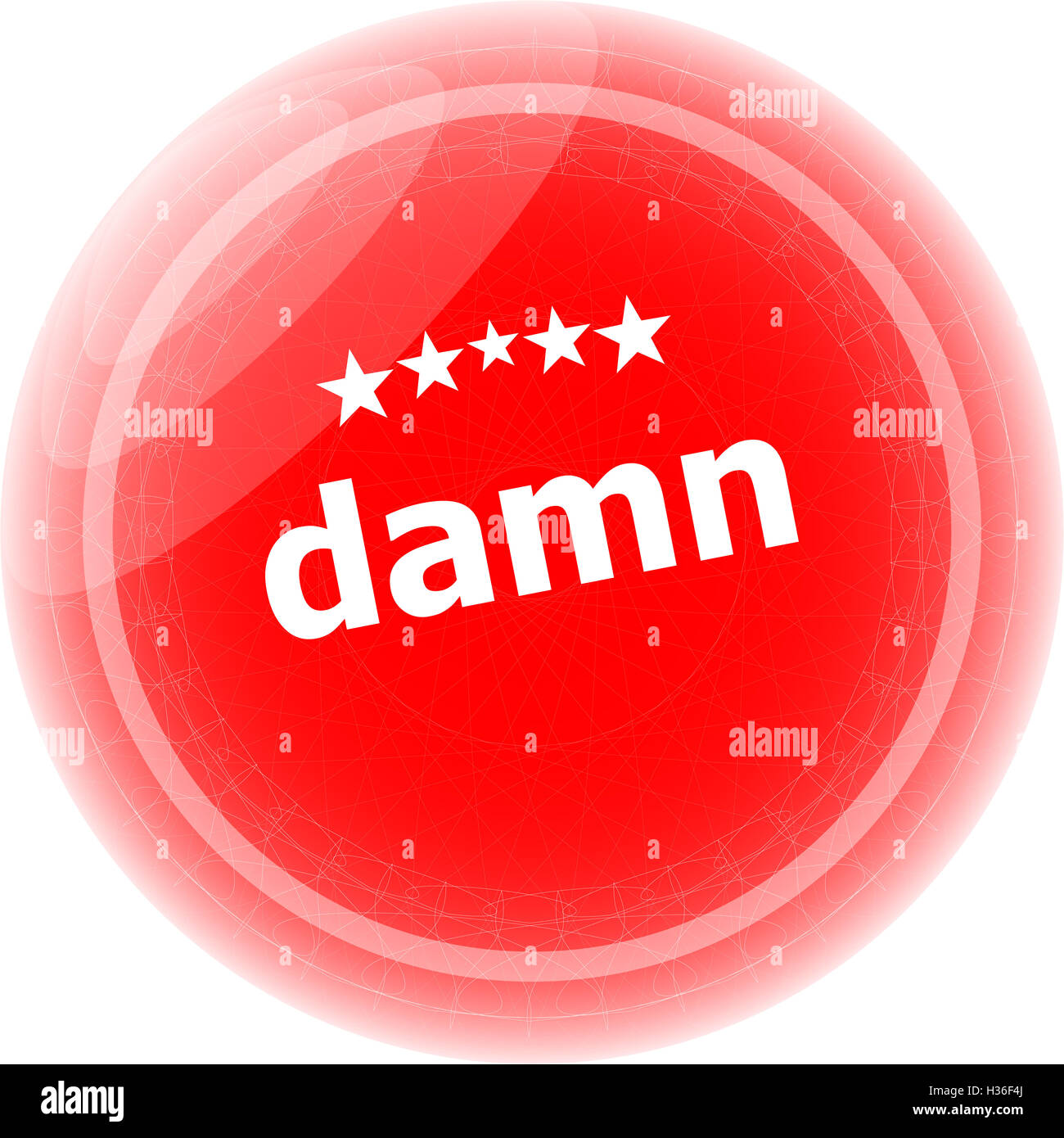 damn word on red icon button business concept - Stock Image