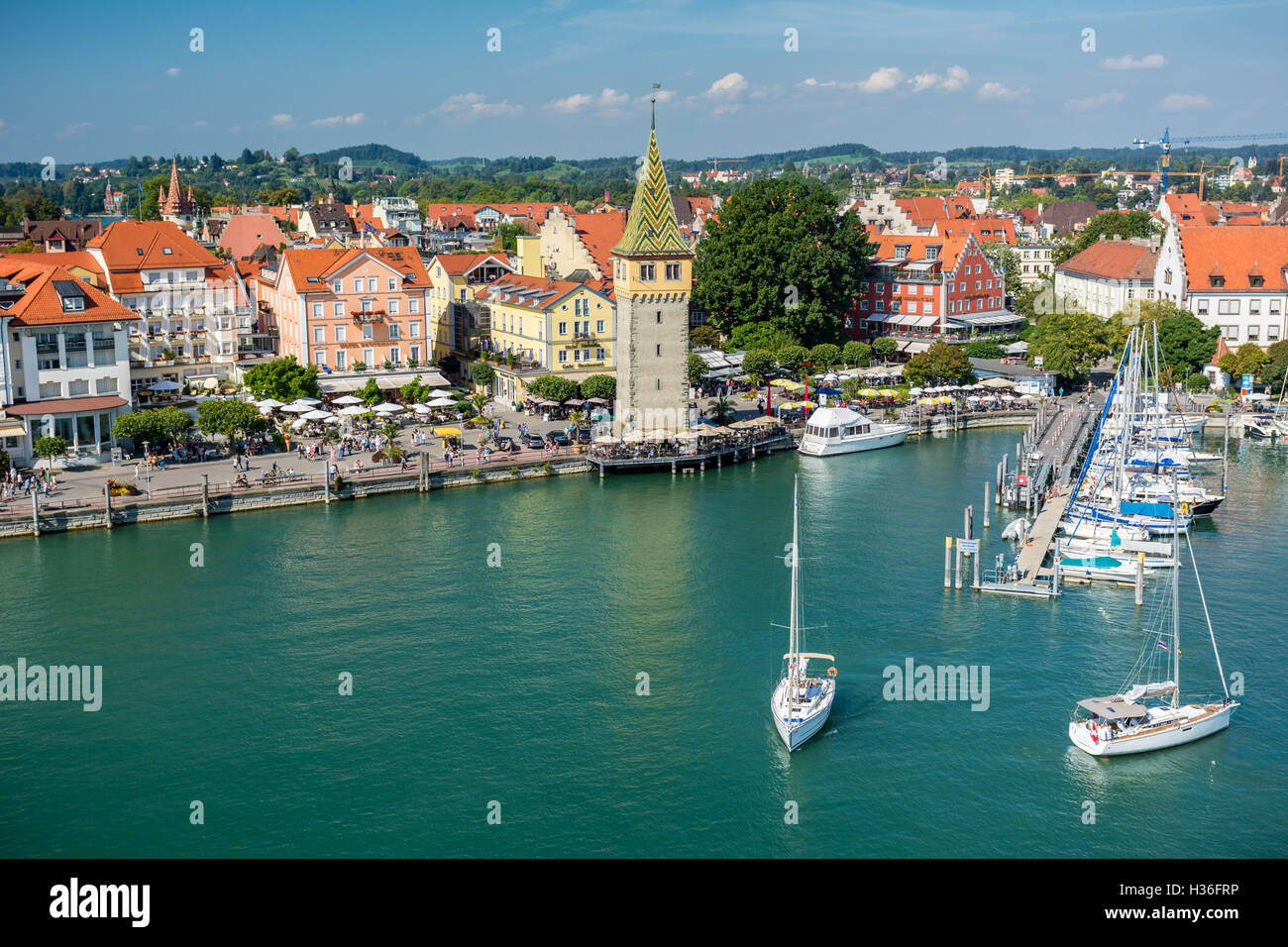 Lindau am Bodensee overview Stock Photo