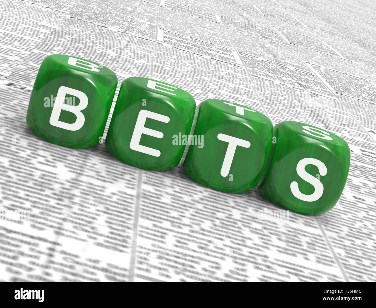 Bets Dice Show Gambling Chance Or Sweep Stake - Stock Image