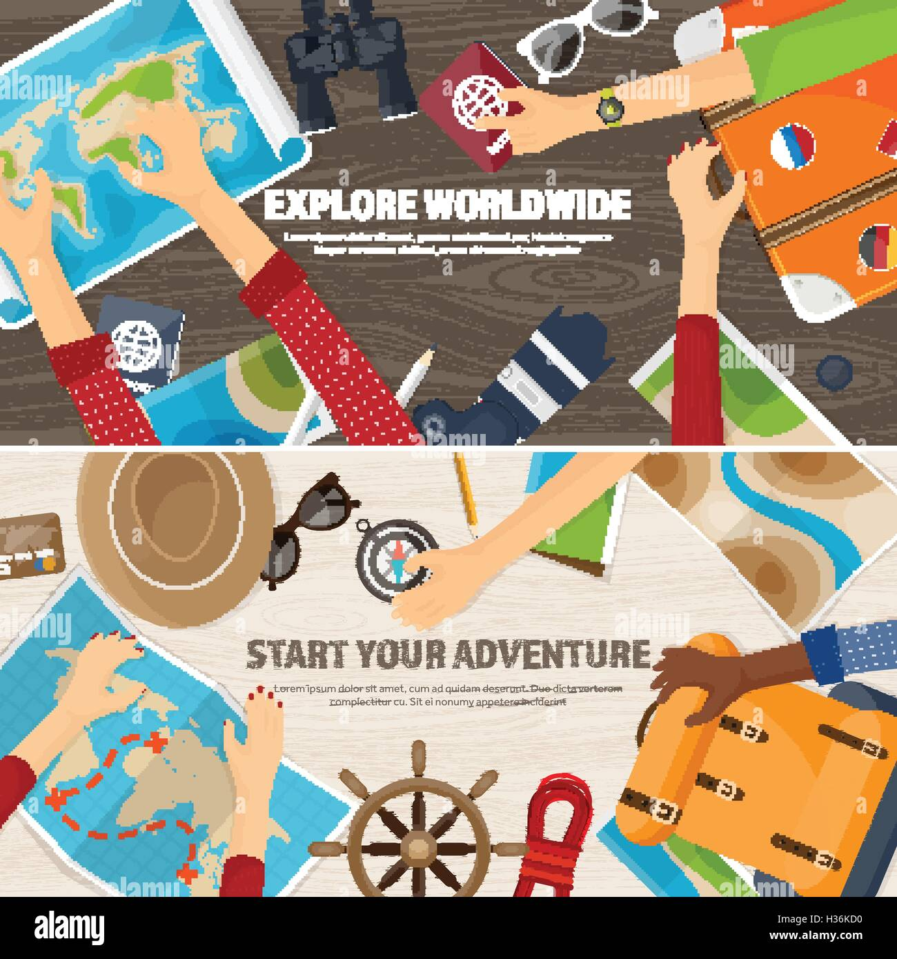 Travel and tourism flat style world earth map globe trip tour flat style world earth map globe trip tour journey summer holidays travellingexploring worldwide adventureexpedition table workplace traveler gumiabroncs Gallery