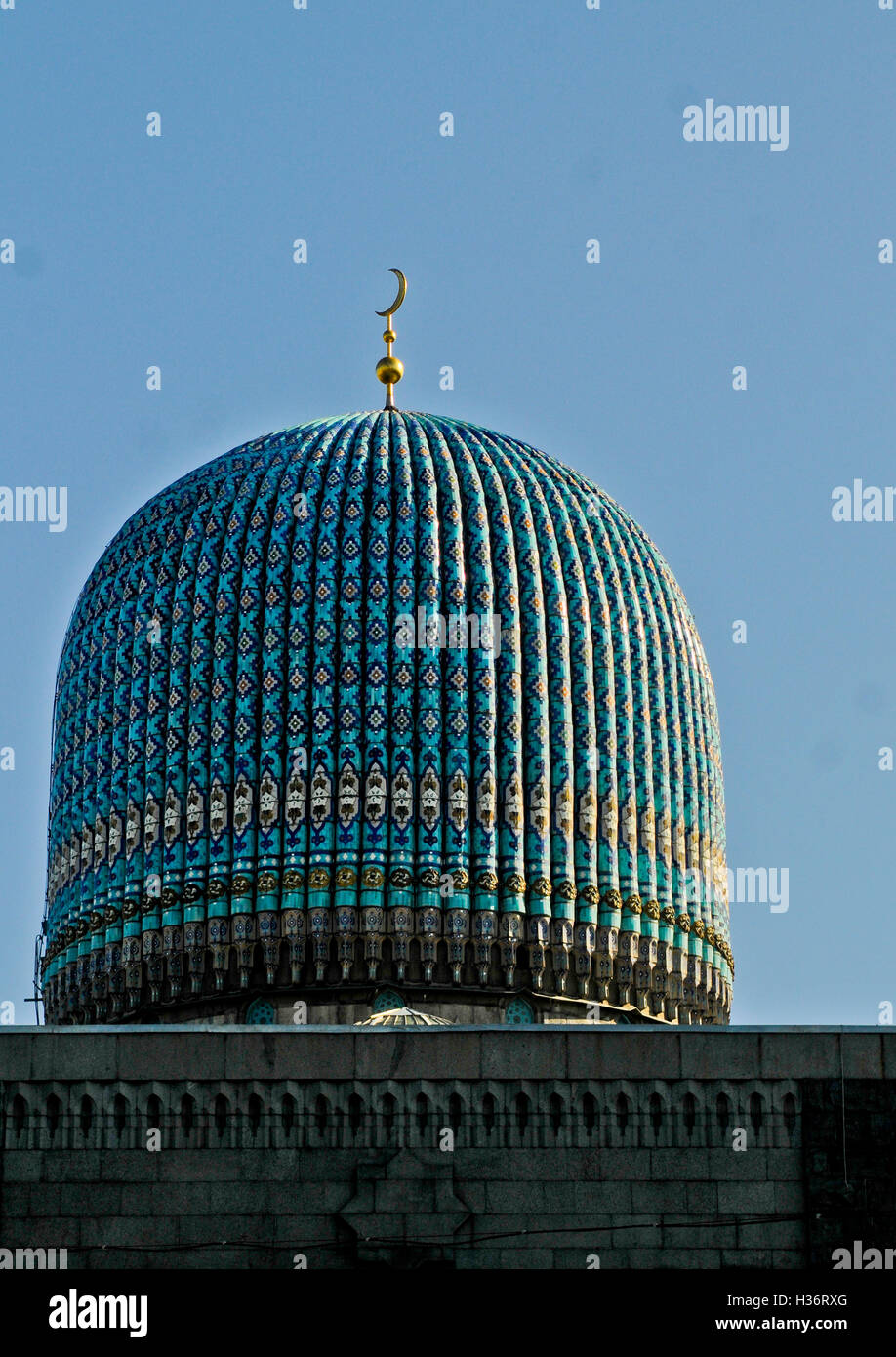 Saint Petersburg Mosque dome, Russia - Stock Image