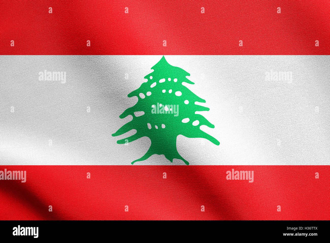 Patriotic Christmas Background.Lebanese National Official Flag Patriotic Symbol Banner