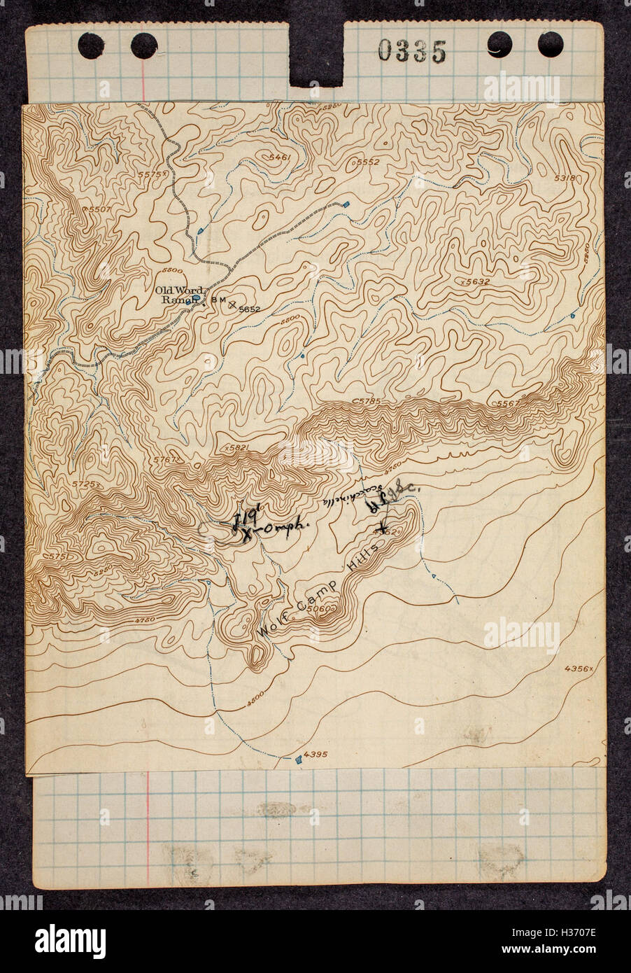 Field notes and maps from Glass Mountains, West Texas, 1951 BHL487 ...