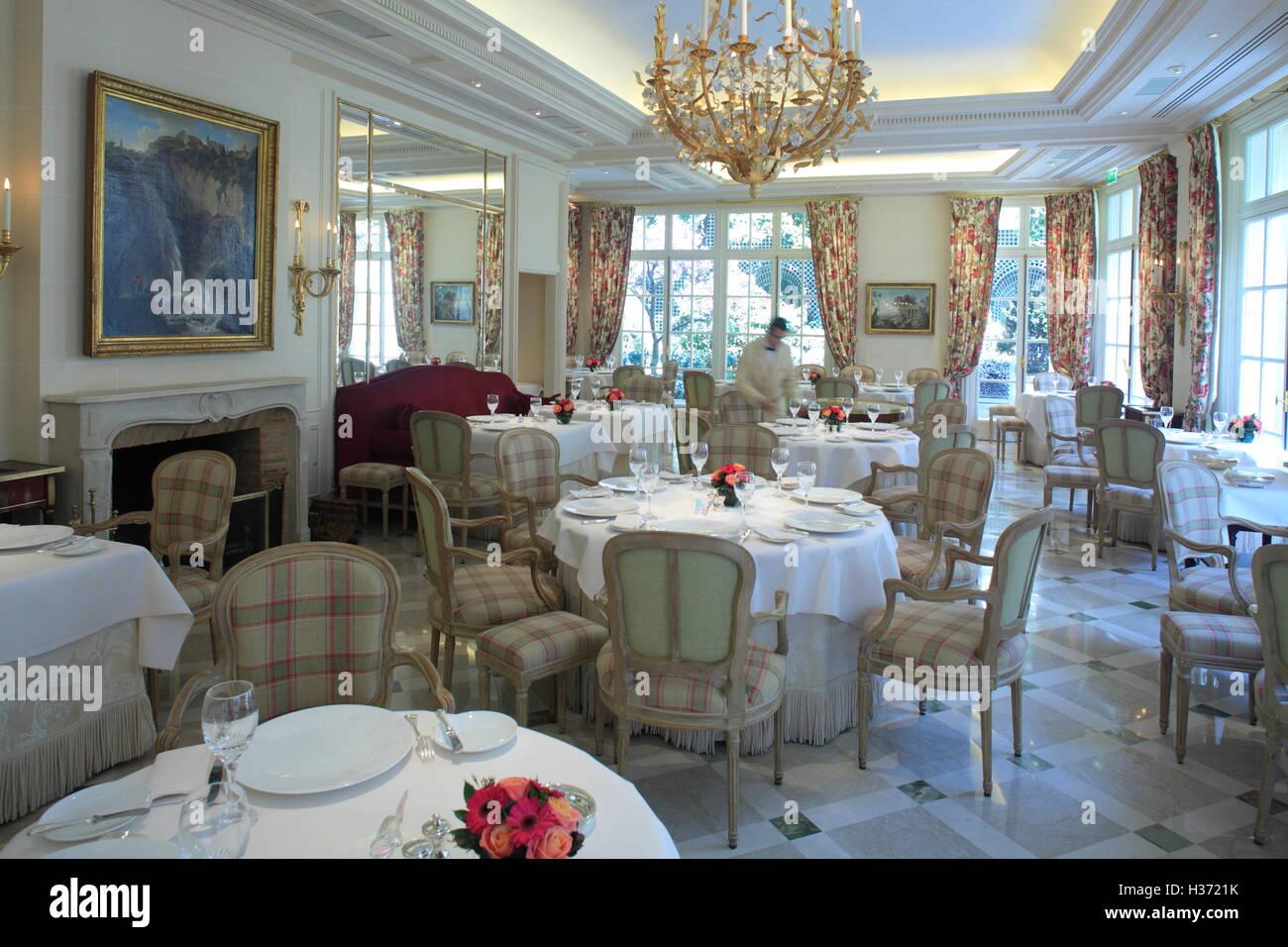 3 Michelin stared gastronomic restaurant Epicure in Hotel Le Bristol. Paris.France - Stock Image