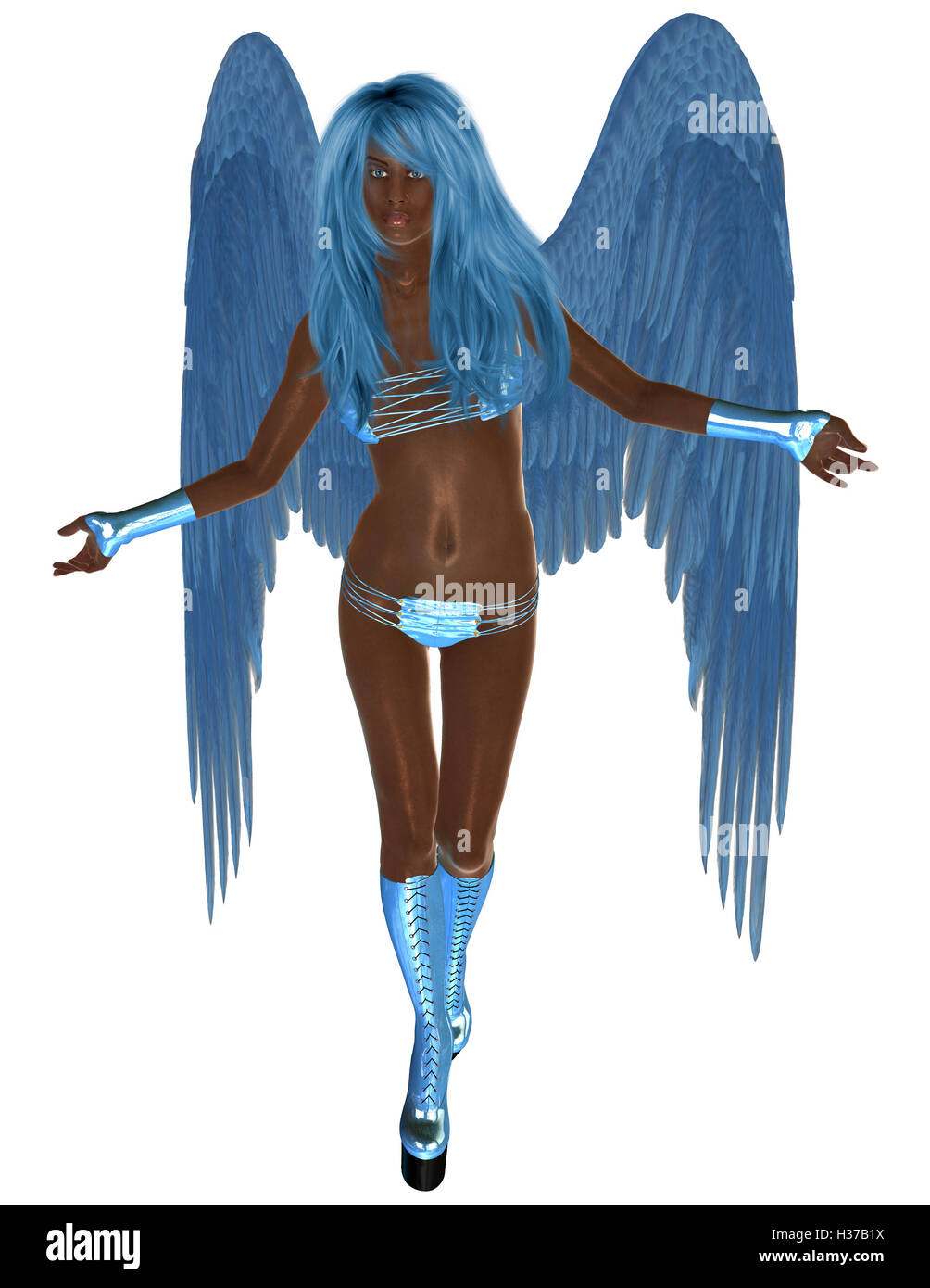 African Blue Angel - Stock Image