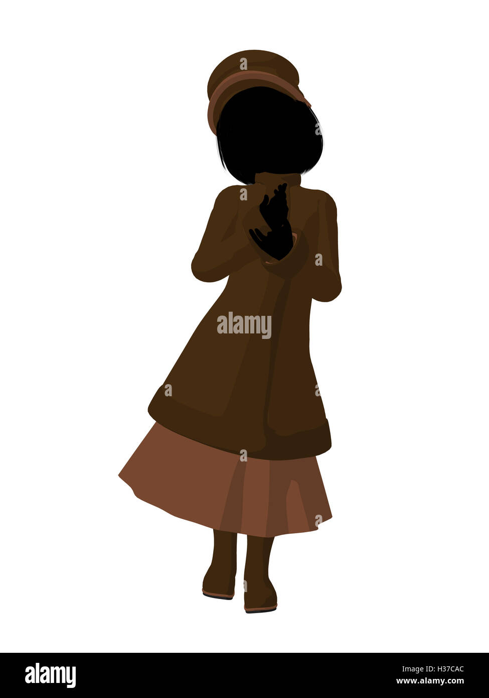 636fbc62b85 Victorian Girl Illustration Silhouette Stock Photo  122479908 - Alamy