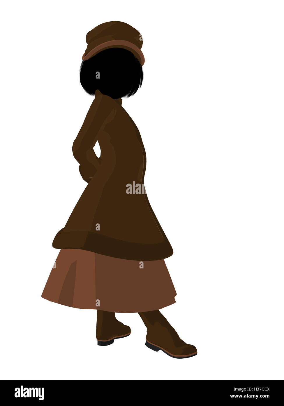 343290f6dcc Victorian Girl Illustration Silhouette Stock Photo  122483114 - Alamy