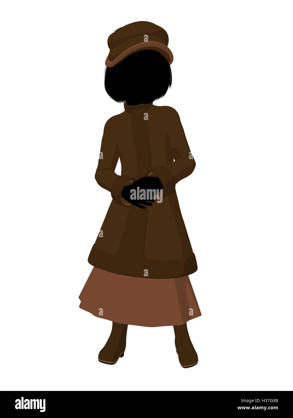 8fbe2e135ba Victorian Girl Illustration Silhouette Stock Photo  122483491 - Alamy