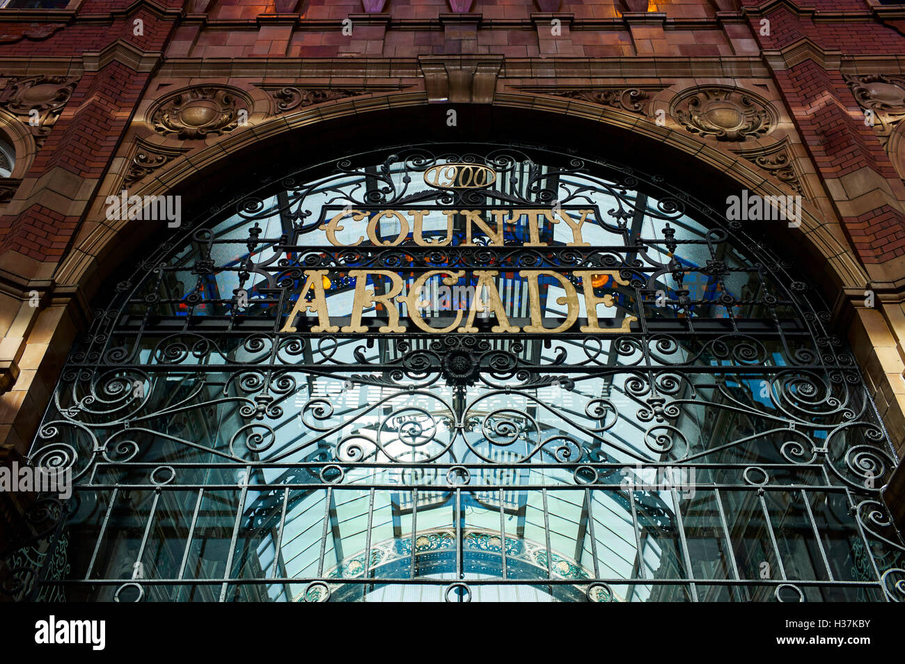 County Arcade in Leeds - Stock Image
